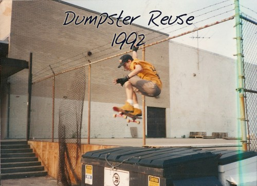 Alex Eaves Skateboarding Dumpster Reuse 1992