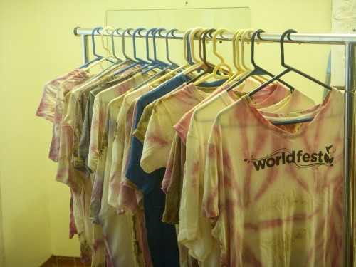 Reuse Tie Dye WorldFest Shirts