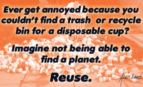Imagine not being able to find a planet. Reuse.