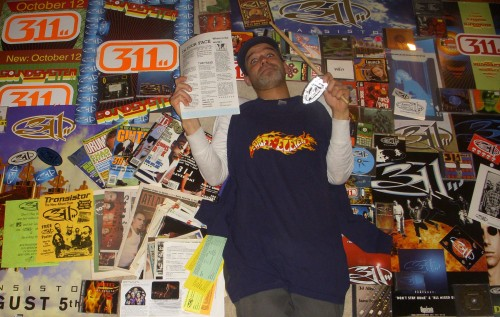 Alex Eaves with his soon to be gone 311 collection