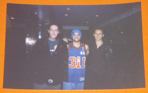 Alex Eaves with 311's P-Nut and Chad Sexton in 1997