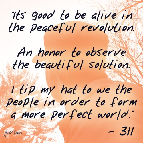 Alex Eaves 311 Peaceful Revolution Image
