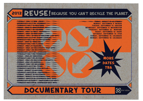 Reuse Documentary Filming Tour Dates Update