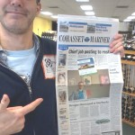 Cohasset Mariner Featuring My Reuse T-Shirt Display On The Front Page